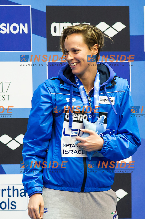 PELLEGRINI Federica ITA gold medal<br /> Women's 200m freestyle final<br /> Netanya, Israel, Wingate Institute<br /> LEN European Short Course Swimming Championships <br /> Dec. 2 - 6, 2015 Day 04 Dec.05<br /> Nuoto Campionati Europei di nuoto in vasca corta<br /> Photo Giorgio Perottino/Deepbluemedia/Insidefoto