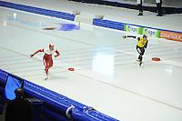 SCHAATSEN: HEERENVEEN: IJsstadion Thialf, 28-12-2014, NK Allround, Koen Verweij, Douwe de Vries, ©foto Martin de Jong