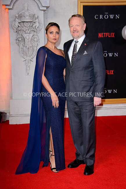 www.acepixs.com<br /> <br /> November 1 2016, London<br /> <br /> Allegra Riggio and Jared Harris arriving at the premiere of the new TV series 'The Crown' on November 1, 2016 in London<br /> <br /> By Line: Famous/ACE Pictures<br /> <br /> <br /> ACE Pictures Inc<br /> Tel: 6467670430<br /> Email: info@acepixs.com<br /> www.acepixs.com