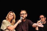 Claudia Gerini, Marco Giallini, Valerio Mastandrea  .Firenze 06/04/2013 Teatro del Sale.Rai Screenings 2013 Convegno Rai Cinema.Foto Andrea Staccioli Insidefoto