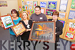 GETTING ARTY: Parents and children from St Bridgid's Family Resource Centre held their park art and craft sale, work from their Parents Painting 4 Fun classes exhibited on Tuesday afternoon. Pictured from l-r were: Caroline Fitzgerald, Aine Walsh (Parent Support Worker), David Maher and Roisin Maher.