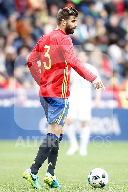 Spain's Gerard Pique during friendly match. June 1,2016.(ALTERPHOTOS/Acero)