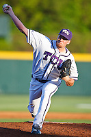 Paul Gerrish (25) April 27th, 2010; NCAA Baseball action, Baylor University Bears vs TCU Horned Frogs at Lupton Stadium in Fort Worth, Tx;  TCU won 5-4 in extra innings.