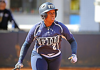 Florida International University outfielder/left handed pitcher Ashley McClain (2) plays against the University of Massachusetts which won the game 3-1 on February 11, 2012 at Miami, Florida. .