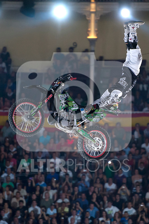 Red Bull X-Fighters 2012. Madrid. Rider In the picture Eigo Sato JAP. July 19, 2012. (ALTERPHOTOS/Ricky Blanco)