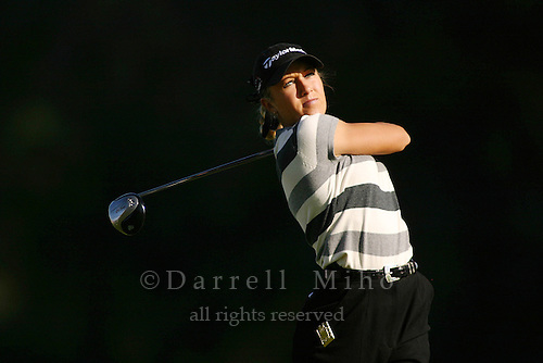 March 26, 2004; Rancho Mirage, CA, USA;  Natalie Gulbis tees off at the 2nd hole during the second round of the LPGA Kraft Nabisco golf tournament held at Mission Hills Country Club.  <br />