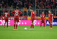 FUSSBALL  1. BUNDESLIGA  SAISON 2015/2016  24. SPIELTAG FC Bayern Muenchen - 1. FSV Mainz 05       02.03.2016 David Alaba, Thomas Mueller, Robert Lewandowski, Juan Bernat und Franck Ribery (v.l., alle FC Bayern Muenchen) sind nach dem 1:2 enttaeuscht