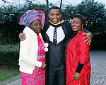 REPRO FREE<br /> 21/01/2015<br /> David Idioh, Raheen, Limerick, MA Community Music Irish World Academy of Music and Dance at the University of Limerick pictured with his mother and sister as the University of Limerick continues three days of Winter conferring ceremonies which will see 1831 students conferring, including 74 PhDs. <br /> UL President, Professor Don Barry highlighted the increasing growth in demand for UL graduates by employers and the institution&rsquo;s position as Sunday Times University of the Year. <br /> Picture: Don Moloney / Press 22
