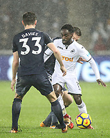 Nathan Dyer of Swansea City during the Premier League match between Swansea City and Tottenham Hotspur at the Liberty Stadium, Swansea, Wales on 2 January 2018. Photo by Mark Hawkins / PRiME Media Images.