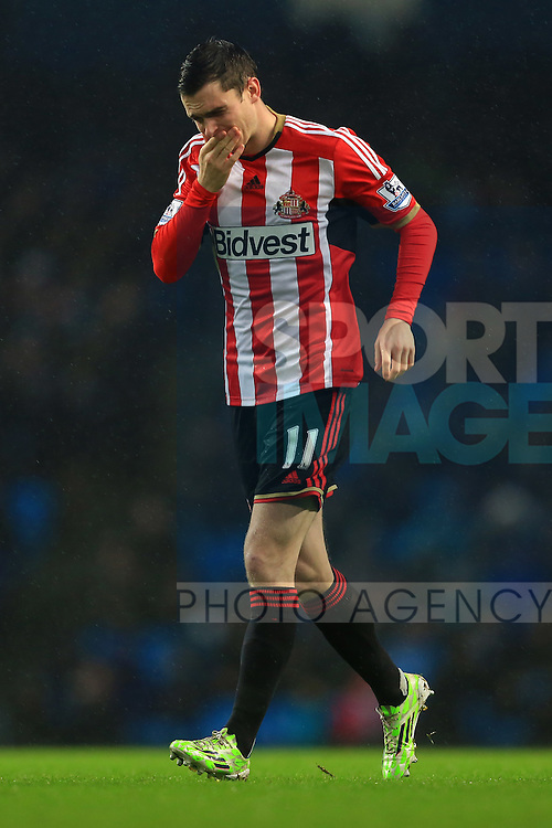Adam Johnson of Sunderland looks dejected - Manchester City vs. Sunderland - Barclay's Premier League - Etihad Stadium - Manchester - 28/12/2014 Pic Philip Oldham/Sportimage