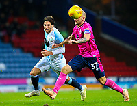 Queens Park Rangers' Toni Leistner holds off the challenge from Blackburn Rovers' Danny Graham<br /> <br /> Photographer Alex Dodd/CameraSport<br /> <br /> The EFL Sky Bet Championship - Blackburn Rovers v Queens Park Rangers - Saturday 3rd November 2018 - Ewood Park - Blackburn<br /> <br /> World Copyright © 2018 CameraSport. All rights reserved. 43 Linden Ave. Countesthorpe. Leicester. England. LE8 5PG - Tel: +44 (0) 116 277 4147 - admin@camerasport.com - www.camerasport.com