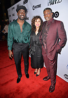 LOS ANGELES, CA- FEB. 08: Shameir Anderson, Nicole Lyn, Keith David at the 2018 Pan African Film & Arts Festival at the Cinemark Baldwin Hills 15 in Los Angeles, California on Feburary 8, 2018 Credit: Koi Sojer/ Snap'N U Photos / Media Punch