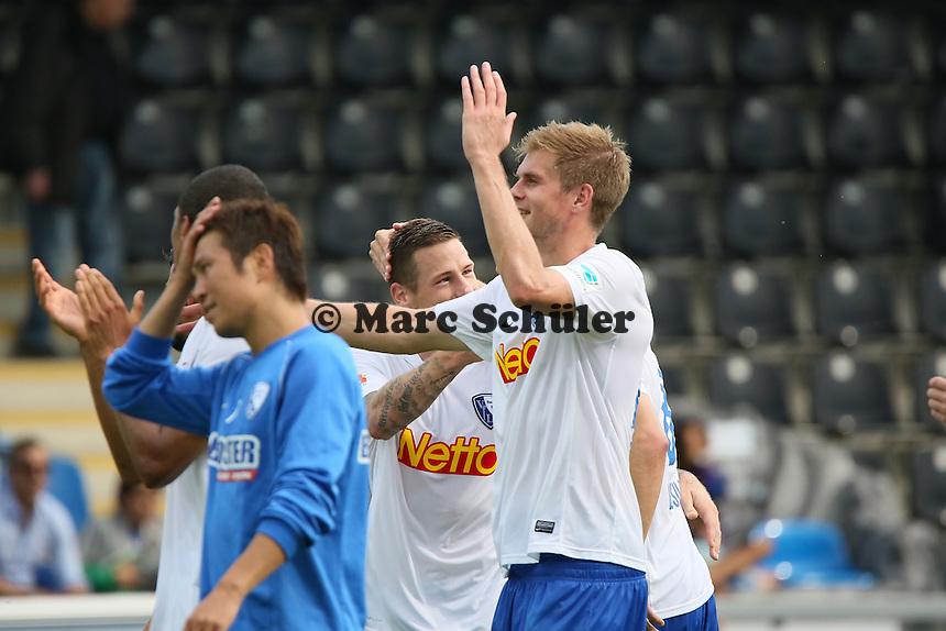 Simon Terodde (Bochum) wird gefeiert - FSV Frankfurt vs. VfL Bochum, Frankfurter Volksbank Stadion