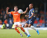 Southend United's Layton Ndukwu and Blackpool's Jordan Thompson<br /> <br /> Photographer Rob Newell/CameraSport<br /> <br /> The EFL Sky Bet Championship - Southend United v Blackpool - Saturday 10th August 2019 - Roots Hall - Southend<br /> <br /> World Copyright © 2019 CameraSport. All rights reserved. 43 Linden Ave. Countesthorpe. Leicester. England. LE8 5PG - Tel: +44 (0) 116 277 4147 - admin@camerasport.com - www.camerasport.com