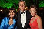 Jenny and Jim Elkins with Laura Bellows at the Discovery Green Gala at Discovery Green Park downtown Saturday Feb. 23,2008.(Dave Rossman/For the Chronicle)