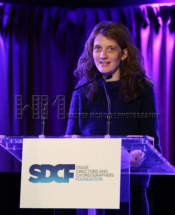 Lee Sunday Evans on stage during the Second Annual SDCF Awards, A celebration of Excellence in Directing and Choreography, at the Green Room 42 on November 11, 2018 in New York City.
