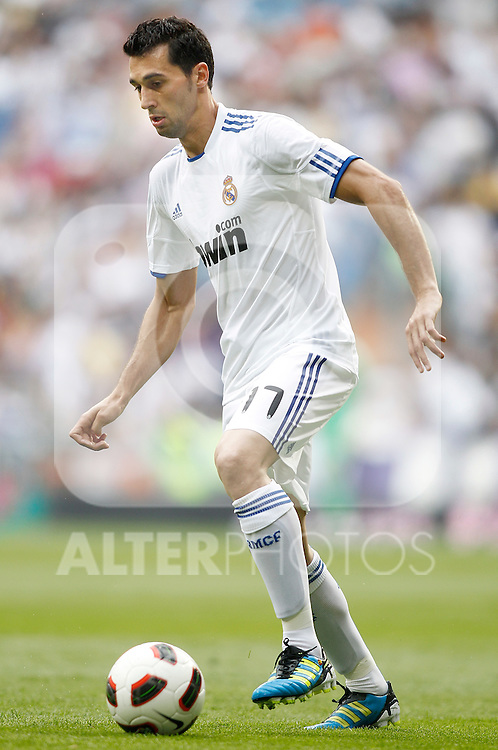 Real Madrid's Alvaro Arbeloa during La Liga Match. May 21, 2011. (ALTERPHOTOS/Alvaro Hernandez)