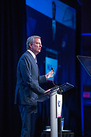 Mayor Bill de Blasio (Democrat of New York) makes remarks at the National League of Cities spring meeting at the Marriott Wardman Park Hotel in Washington, DC on Monday, March 12, 2018.<br />