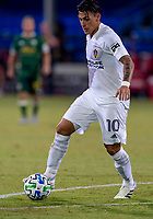 13th July 2020, Orlando, Florida, USA;  Los Angeles Galaxy forward Cristian Pavon (10) during the MLS Is Back Tournament between the LA Galaxy versus Portland Timbers on July 13, 2020 at the ESPN Wide World of Sports, Orlando FL.