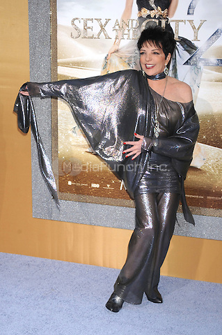 Liza Minnelli at the film premiere of 'Sex and the City 2' at Radio City Music Hall in New York City. May 24, 2010.Credit: Dennis Van Tine/MediaPunch