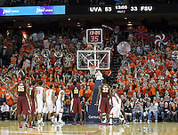 Florida State forward Okaro White (10) shots a free throw during the second half of an NCAA basketball game Saturday Jan. 18, 2014 in Charlottesville, VA. Virginia defeated Florida State 78-66. (AP Photo/Andrew Shurtleff)