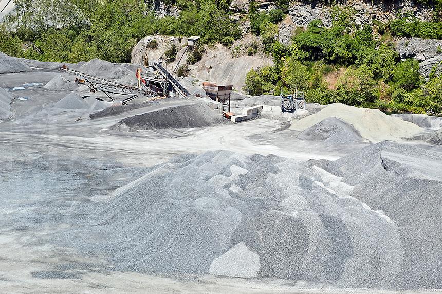 Limestone quarry, Lancaster, PA, Pennsylvania, USA