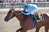 Haynesfield upsets I Want Revenge and Regal Ransom in the Suburban Handicap at Belmont Park on July 3.