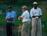 Tiger Woods, Vijay Singh in action at the Bay Hill Invitational at Arnold Palmer's Bay Hill Club & Lodge in Orlando, FL in March 2003. (Photo by Brian Cleary / www.bcpix.com)