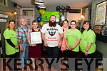 Bearded Man Fundraiser for Kerry Lifeline in the Duggans Bar, Castlemaine last Saturday night. Pictured L-R Lindsay Fredman (Manager of South West Counselling Centre Killarney), Michael Mulcahy, Noreen Angland, Garry O'Dowd, Zara O'Dowd, Aoife AnglandNikki Wissell (South West Counselling Centre Killarney.