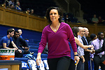 DURHAM, NC - FEBRUARY 01: Georgia Tech head coach MaChelle Joseph. The Duke University Blue Devils hosted the Georgia Tech University Yellow Jackets on February 1, 2018 at Cameron Indoor Stadium in Durham, NC in a Division I women's college basketball game. Duke won the game 77-59.