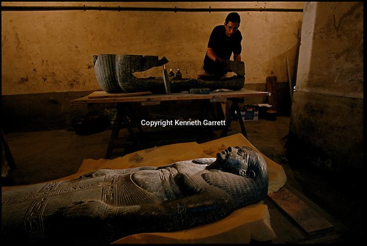Sarcophagus, granite, Amarna, period,The Egyptian Museum, Centennial, mm7060, hidden treasures.