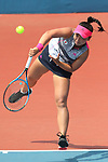 Eri Hozumi (JPN), <br /> AUGUST 20, 2018 - Tennis : <br /> Women's Singles Round of 32 <br /> at Jakabaring Sport Center Tennis Court <br /> during the 2018 Jakarta Palembang Asian Games <br /> in Palembang, Indonesia. <br /> (Photo by Yohei Osada/AFLO SPORT)