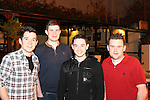 Conor McCarthy, Eoghan Harnedy, Tommy Britt and Daire Foley enjoying a night out in McPhails.<br /> Picture: Shane Maguire / www.newsfile.ie