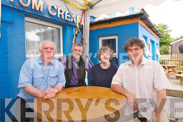 Michael Smith, Cliff Wedgbury, Rosemary Evans and Julian Evans, from the Tom Crean Society, at the Tom Crean Festival in Annascaul over the weekend.