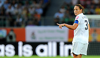 Christie Rampone of team USA during the FIFA Women's World Cup at the FIFA Stadium in Wolfsburg, Germany on July 6thd, 2011.