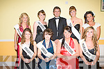 FESTIVALS QUEENS: Senator Mark Daly with the competing Ballyheigue Summer Festival Queen Pageant at the Ballyheigue Community Centre on Sunday seated l-r: Joanne O'Connor (Brassils), Lithia O'Regan (Londis), Orla Fitzgerald (Costcutters) and Eva Barry (Marin Park). Back l-r: Frieda Leahy (White Sands Hotel), Carmel Broderick (Family Resource Centre), Senator Mark Daly, Laura Daly (Tides) and Clarissa O'Sullivan (Doon).