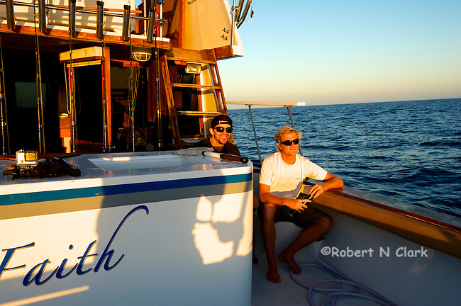 Offshore fishing off the coast of San Diego and Northern Baja California on the sport fisher Faith.  Fishing buddies at the end of the day.