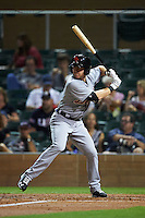 Scottsdale Scorpions outfielder Mike Gerber (9) at bat during an Arizona Fall League game against the Salt River Rafters on October 13, 2015 at Salt River Fields at Talking Stick in Scottsdale, Arizona.  Salt River defeated Scottsdale 5-3.  (Mike Janes/Four Seam Images)