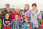 Owen Foley, Rhian Foley and Tadgh O'Halloran.Back l-r Eugene Stack, Joan Hickey,Emily Hickey Brosnan and Rita Stack from Dingle enjoying the Ballyheigue pig Race on Thurday