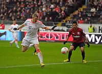 FRANKFURT, ALEMANHA, 06 ABRIL 2013 - CAMPEONATO ALEMÃO - EINTRACHT FRANKFURT X BAYERN MUNIQUE -Bastian Schweinsteiger jogador do Bayern de Munique em partida contra o Eintracht Frankfur na cidade DE Frankfurt na Alemanha, neste sábado, 06.  FOTO: BERND FEIL /  PIXATHLON / BRAZIL PHOTO PRESS.