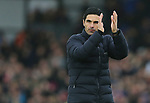 Arsenal's head coach Mikel Arteta applauds the fans after the Premier League match at Selhurst Park, London. Picture date: 11th January 2020. Picture credit should read: Paul Terry/Sportimage