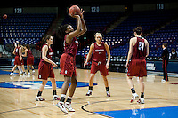 SPOKANE, WA - MARCH 25, 2011:  Nnmemkadi Ogwumike at the Stanford Women's Basketball, NCAA West Regionals practice at Spokane Arena on March 25, 2011.