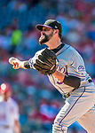 30 July 2017: Colorado Rockies pitcher Pat Neshek on the mound against the Washington Nationals at Nationals Park in Washington, DC. The Rockies defeated the Nationals 10-6 in the second game of their 3-game weekend series. Mandatory Credit: Ed Wolfstein Photo *** RAW (NEF) Image File Available ***