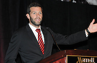 D.C. United head coach Ben Olsen,at the United Kickoff luncheon, at the Marriott hotel in Washington DC, March 5, 2012.