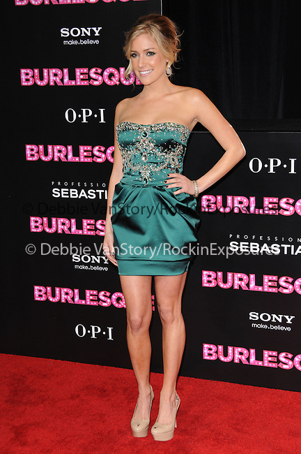Kristin Cavallari  at The Screen Gems' L.A. Premiere of Burlesque held at The Grauman's Chinese Theatre in Hollywood, California on November 15,2010                                                                               © 2010 Hollywood Press Agency