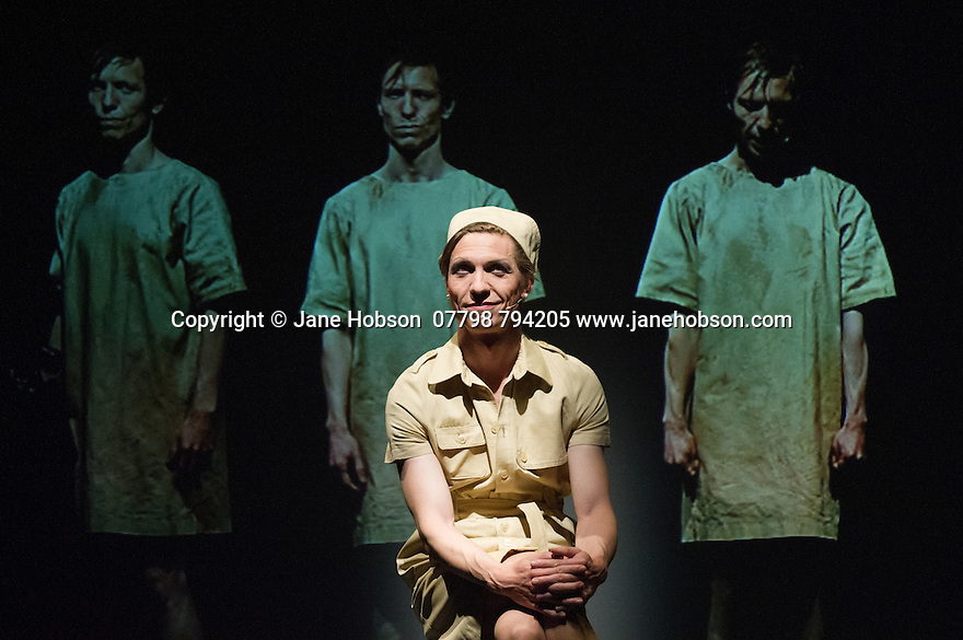 Edinburgh, UK. 31.07.2014. Valentijn Dhaenens, writer and director of SMALL WAR, also performs the one-hander, at the Traverse theatre, as part of the Edinburgh Festival Fringe. Photograph © Jane Hobson.