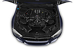 Car stock 2019 BMW M5 Competition Base 4 Door Sedan engine high angle detail view
