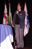 ATENCAO EDITOR: FOTO EMBARGADA PARA VEICULOS INTERNACIONAIS - SAO PAULO, 26 DE SETEMBRO, 2012 - ELEICOES 2012 - SONINHA FRANCINE - A candidata do PPS a prefeitura de SP participa da Cerimônia de Comemoração dos 20 anos do SINESP - Sindicato dos Especialistas de Educação do Ensino Publico Municipal de SP e  Lançamento do selo comemorativo e da Revista Retrato da Rede 2012, Teatro Gazeta, regiao da Av Paulista na tarde dessa quarta-feira, 26 - FOTO LOLA OLIVEIRA - BRAZIL PHOTO PRESS