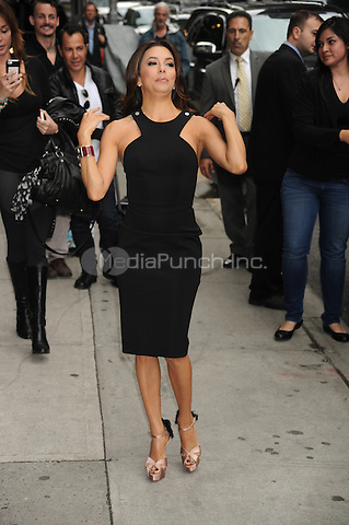 Eva Longoria at the Ed Sullivan Theater for an appearance on Late Show with David Letterman in New York City. May 9, 2012.. Credit: Dennis Van Tine/MediaPunch