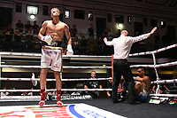 Charlie Quinn (white shorts) defeats Marko Ivanisevic during a Boxing Show at York Hall on 10th June 2017